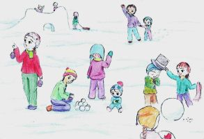Childs play in snow (SS) by Ametyr