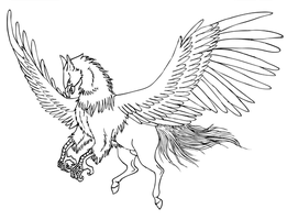 Isei the hippogriff by Momothecat