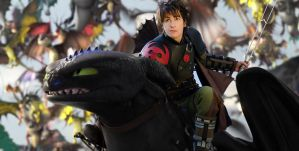 HICCUP and TOOTHLESS - HTTYD2 by AlexanDrake89