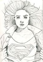 Supergirl Ink Sketch by Fellhauer