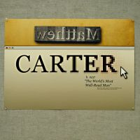 Matthew Carter Poster by canvasproductions