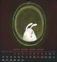 january bunny by Adnil