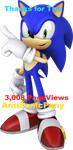 Thanks for the 3,008 pageviews*AntiSonicPony by LukeVei-Da-Hedgehog