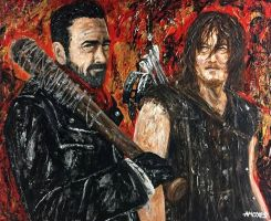 Negan and Daryl by amoxes