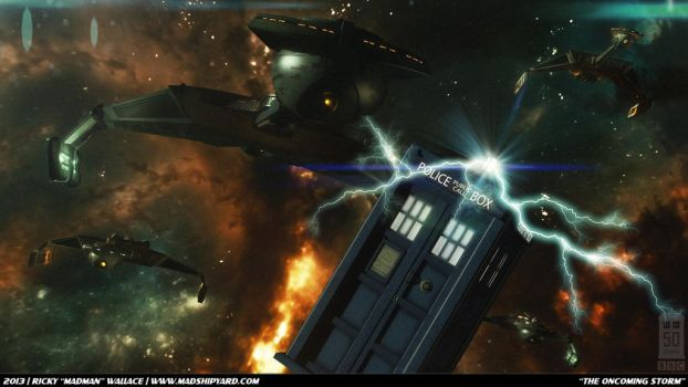 Doctor Who 50th - The Oncoming Storm by madman1701a