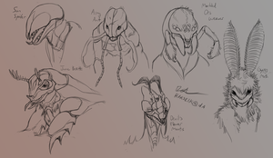 Arthropoid Bust Sketches by Harseik