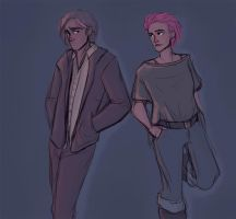 tonks and remus by LessienMoonstar