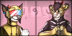Beeju and Kota Linked Icons by ContradictingCats