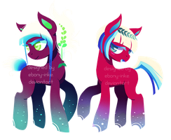 Luminescent Duo Adopt (Closed) by Ebony-Inke