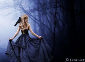 A raven came to me by Lenedict by Realm-of-Fantasy