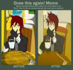 Draw this Again! Grell Coffee on the desk by Marcxangfenix