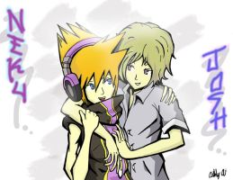 TWEWY: NekuxJosh by Saiya-STORY