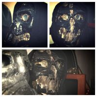Dishonored Mask Prop w/ Hood by redsteal21