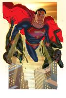 Superman by therealarturo colo by bushiboy
