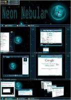 Neon Nebular 64bit Vista Theme by UkIntel