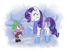 Two friends in the snow by Reporter-Derpy