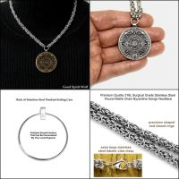 Aztec Calendar Stone Coin W/All Stainless Necklace by GoodSpiritWolf