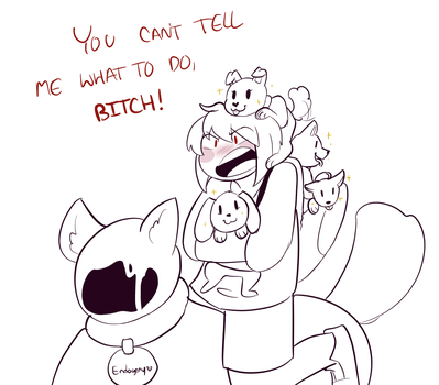 No more dogs Chara..! by Channydraws