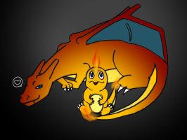 CharizardxCharmander by Not-Even-The-Turtle