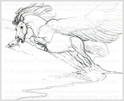 Pegasus Sketch by Freha