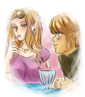 TP Zelink AU: On an Ice Cream Date by dattebayo34