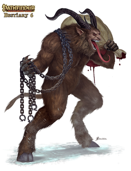 Pathfinder-Bestiary-6-Krampus by Davesrightmind