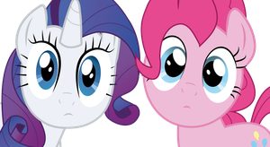 Rarity and Pinkie Pie by romansiii