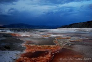 Mammoth Hot Springs by jayshree