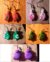 Clay Turtle Earrings by UntouchedRayne