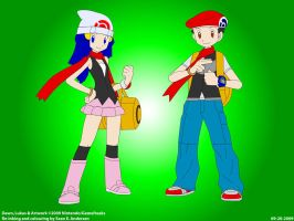 Pokemon Trainers Dawn + Lukas by TheRealSneakers