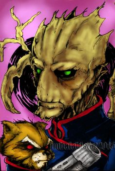 Groot and Rocket! :) IN da HOUSE! by jjbalabis28
