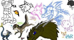 wolvs and dragons :D by reaper5831