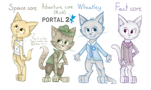 Portal 2 characters as cats [4] by Sitnich