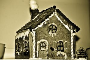 Gingerbread House III by scribbleXcore