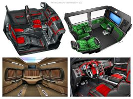 Car interior projects by Rykunov