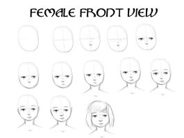 Tutorial: Female Face Front by KitWilkins