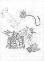 Halion Sketches by OmegaBearBeast
