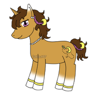 [CLOSED] Pony/ Unicorn Adoptable: Honey Moon by izka197