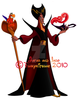 Jafar and Iago by Funkykitsune