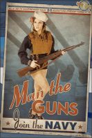 Propaganda Pinups - Man the Guns! by warbirdphotographer