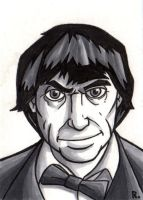 The Second Doctor Sketchcard by TheRigger
