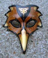 Persian Raven Mask--Brown by merimask