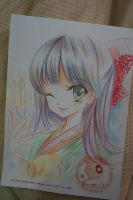 kimono girl _colored pencil work by tip3361