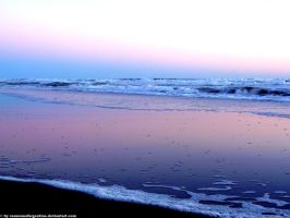 Monte Hermoso - Sunset on the sea 6 by Cansounofargentina