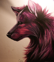 Acrylic in purple by Cederin
