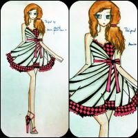 zebra style in chess dress by BethzAbonitz