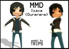 MMD Chibi Izaya :DRRR: +DL by Trippy-Rabbit