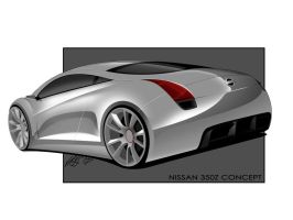 Nissan 350z Concept -Rear- by Hossworks