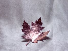 Copper maple leaf ornament by Dragonsmithy