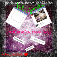 Pack Para Hacer Chat Falso(contiene accesorios) by fotosdevioletta